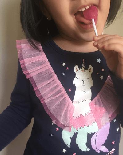 enjoying xylitol lollipop